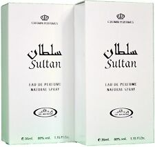SULTAN 35ml Oriental Woody MUSCHIO BIANCO Profumo Spray da al Rehab (Pacco da 2)