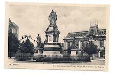 belfort  le monument des trois sièges et le palais de justice