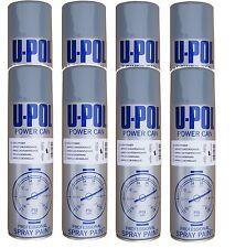8x U-POL Grey Can Metal Etch Primer Aerosol 500ml Spray Paint Professional New