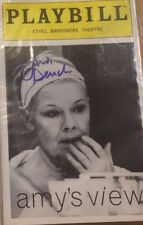 "PLAYBILL ""Amy's View,"" Signed by Judi Dench, Tate Donovan,Samantha Bond oo7"