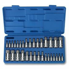 32pc Master Hex Bit Socket Set SAE & METRIC Automotive Shop Tools Must Have Tool