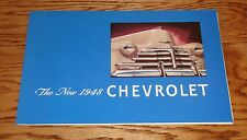 1948 Chevy Fleetline Stylemaster Foldout Sales Brochure 48 Chevrolet