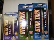MPC (3 ROCKET KIT LOT)STAR TREK U.S.S. ENTERPRISE KLINGON U.S.S.RELIANT NEW NIB