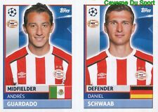 PSV10-11 DANIEL SCWAAB ANDRES GUARDADO PSV STICKER CHAMPIONS LEAGUE 2017 TOPPS