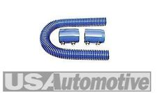 "Blue 24"" Stainless Steel ""Radiator"" Hose Kit with Blue Aluminum Caps"