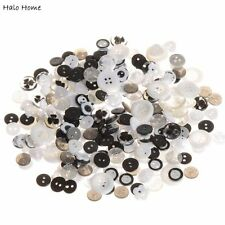 High Quality Sewing Buttons Resin Black White Scrapbook Mixed 40 Gram 11-18mm