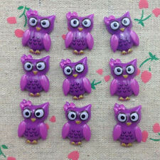 10pcs Owl Flatback Resin Cabochon Scrapbooking for craft.Purple #2