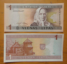 Lithuania Paper Money 1 Litas 1994 UNC