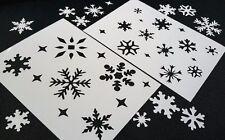 # S Fiocchi di Neve Natale Stencil Set Inverno Card Making Scrapbook Riutilizzabile MYLAR neve