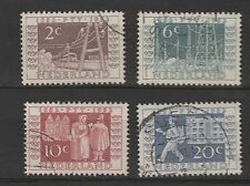 o NED. NVPH nrs. 592/595, ITEP met rondstempel. Cw. € 60,-