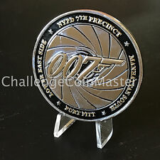 B70 NYPD CHALLENGE COIN 7TH 7 PCT PRECINCT 007 JAMES BOND