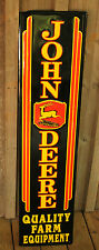 JOHN DEERE Tractor Metal Farm Equipment LARGE Vintage Style 3 LEG SIGNS Barn Dad