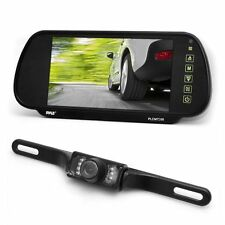 "Pyle PLCM7200 7"" Backup Mirror Monitor + License Plate Night Vision Camera Kit"