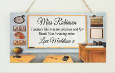 Beautiful Hand Made Personalised Teacher Sign Plaque Gift Present Precious & Few
