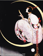 VOGUE Poster ART DECO Woman Crescent MOON w-Mirror Vintage 1975 MATTED Picture