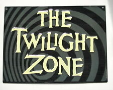 TWILIGHT ZONE Metal Wall Sign Rod Serling Vintage Sci Fi TV Series Show 13 inch