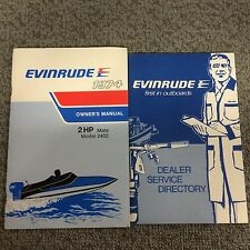 1974 EVINRUDE 2HP OWNERS MANUAL FREE SHIPPING