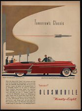 1952 OLDSMOBILE Red 98 Convertible Ninety-Eight Hydra-Matic Car VINTAGE AD