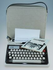 Brother Deluxe 1300 Portable Typewriter with Case and Instructions
