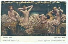 Colour Postcard of The Painting A Summer Night by Albert Moore