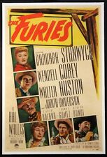 THE FURIES BARBARA STANWYCK ANTHONY MANN WESTERN 1950 1-SHEET LINENBACKED