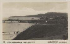 COLOMBIA BARRANQUILLA  VISTA PANORAMICA DE PUERTO COLOMBIA N°38  REAL PHOTO