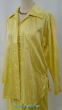 Linda Lundstrom Silk capri pant Suit Pantsuit blouse top jacket 2PC set S 4 NWT