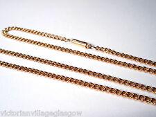 Calidad de la cadena de enlace de cordón de oro 15CT Victoriano.. (18 1/2 Pulgadas)