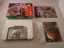 WCW/NWO Revenge (Nintendo 64, 1998) N64 COMPLETE w/ Box manual game POSTER! #L1