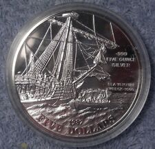 1987 Bermuda Sea Venture Wreck - 1609 5 oz silver Singapore Mint proof