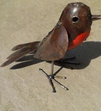 Recycled Metal Robin Bird Garden or Home Ornament