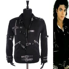 Michael Jackson MJ Classic BAD Black Jacket Outerwear Skinny Punk Collection