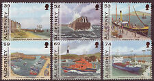 ALDERNEY 2012 HARBOUR, SHIPS SET OF 6 UNMOUNTED MINT, MNH