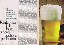 COUPURE DE PRESSE CLIPPING 1964 La bière ANCRE de Strasbourg   (3 pages)