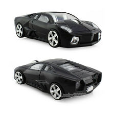 Hot Lamborghini car USB Optical 2.4G Wireless Mouse mice for Laptop MAC PC Black