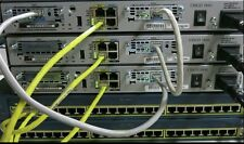 Cisco CCENT, CCNA, CCNP R&S SECURITY LAB 3x 1841 IOS 15.1, 256D/64F 2x 2950-24