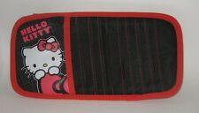 HTF Hello Kitty BLACK AND RED Car Sun Visor Organizer CD DVD etc w/ Pen Holder