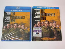 The Monuments Men (Blu-ray/DVD, 2014, 2-Disc Set, Digital HD Copy) w/Slipcover