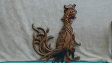 VINTAGE 1960s SYROCO Rooster Chicken Wall Hanging Plaque Mid Century