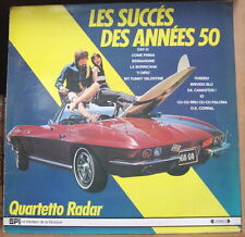"QUARTETTO RADAR ""LES SUCCES DES ANNES 50""  CAR 60's COVER FRENCH LP SPI"