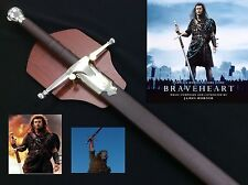 Medieval Braveheart Sword w/ Scabbard & Plaque Stainless Steel Blade
