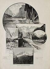 """Toblach / Trentino. """"Strada d'Allemagna"""" u.a. Landro u. Cadini - O.Graf um 1898"""