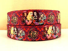 1 METRE EVER AFTER HIGH RIBBON SIZE 1 INCH BOWS HEADBANDS BIRTHDAY CAKE HAIR