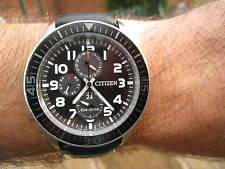 CITIZEN MILITARY DIVERS 100M ECO DRIVE 24 HOUR SUB DAIL DAY/DATE SUB DIALS G/CON