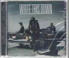 Write This Down-Write This Down CD FREE SHIPPING Christian Rock Brand New-Sealed