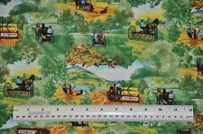 1/2 yard cotton quilt fabric International Harvester Mccormick farming equipment