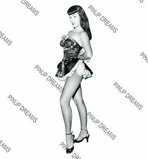 Vintage A4 Photo Poster Print of 1950s Pin-up Burlesque Queen Bettie Page 01,