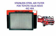 HURRICANE STAINLESS STEEL POWER AIR FILTER TOYOTA HILUX REVO SR5 M70 M80 15 2016