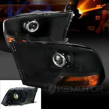 Dodge 09-16 RAM 1500 2500 3500 Euro Black Crystal Projector Headlights