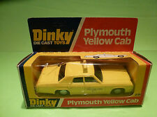DINKY TOYS 278 PLYMOUTH YELLOW CAB - RARE SELTEN - GOOD CONDITION IN BOX